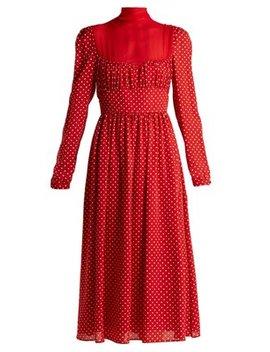 Polka Dot Silk Georgette Dress by Valentino
