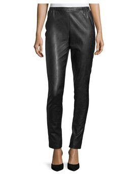 Faux Leather Skinny Pants, Petite by Caroline Rose