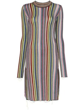 Long Sleeve Striped Wool Dress by Marques'almeida