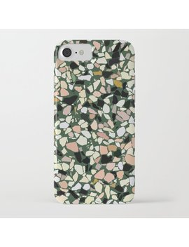 Pink And Green Terrazzo I Phone Case by