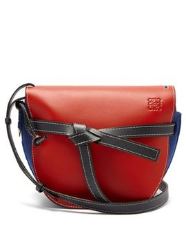 Gate Leather And Felt Cross Body Bag by Loewe