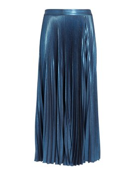 Bobby Blue Metallic Pleated Skirt by A.L.C.