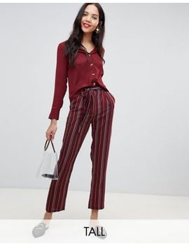 Parisian Tall Stripe Wide Leg Trouser by Tall Trousers