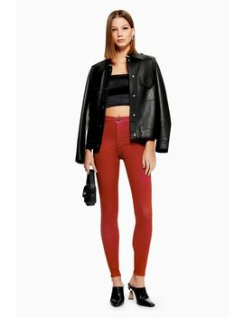 Rust Joni Jeans by Topshop