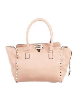 Rockstud Double Handle Blush/Beige Leather Shoulder Bag by Valentino