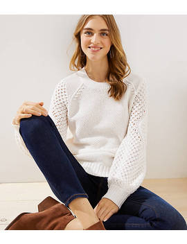 Stitched Sleeve Sweater by Loft