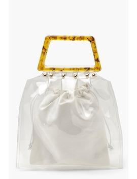 Clear Duffle Bag Insert With Resin Handle by Boohoo