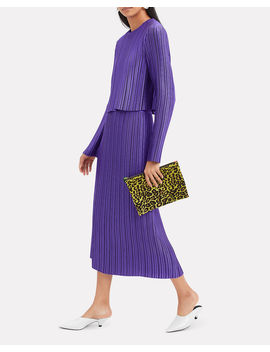 Pleated Purple Skirt by Tibi