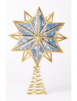 Glass & Brass Star Tree Topper by Anthropologie