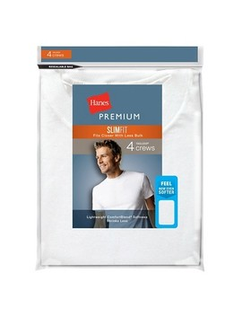 Hanes® Premium Men's 4pk Slim Fit Crew Neck Tees by Shop This Collection