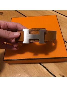 Authentic Brand New Hermès Silver H Buckle Belt 85 by Hermes