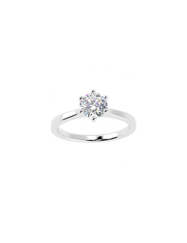 0.25ct Diamond & Platinum Solitaire Ring by Buy Fine Diamonds