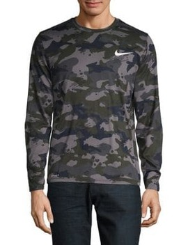 Dry Legend Men's Long Sleeve Camo Training Top by Nike