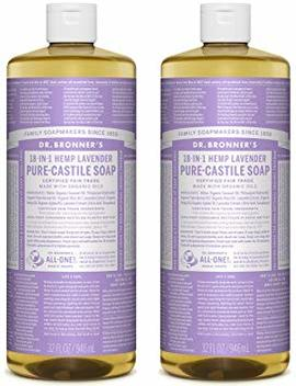 Dr. Bronner's Pure Castile Liquid Soap Value Pack – Lavender 32oz. (2 Pack) by Dr. Bronner's