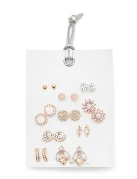 Prowl Rhinestone Stud Earrings Set by Guess