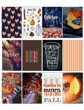 Big Hp Halloween Fall Pumpkin Spice Planner Stickers October Full Size Happy Planner Large Happy Planner Sticker Thanksgiving Stickers V.2 by Etsy