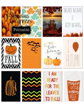 Big Happy Planner Halloween Fall Pumpkin Spice Planner Stickers Full Size Happy Planner Large Happy Planner Sticker Thanksgiving Stickers by Etsy