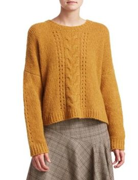 Perfect Cable Knit Pullover by Nanette Lepore