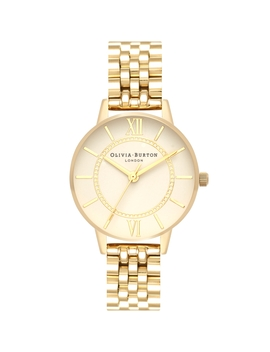 Wonderland Nude Gold Bracelet Watch by Olivia Burton