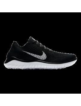 Nike Men's Free Rn Flyknit 2018 Running Shoes   Black/White by Sport Chek