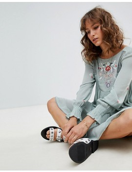 Free People – Mohave – Broderad Miniklänning by Asos
