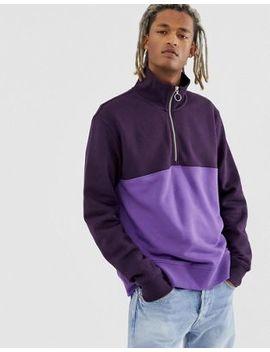 Weekday Martin Blocked Zip Sweatshirt by Weekday
