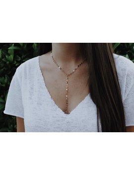 Dallas // Lariat Chain Choker / Chain Choker / Lariat Necklace / Lariat Choker by Etsy