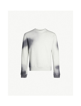 Spray Crystal Embellished Cotton Jersey Sweatshirt by Off White C/O Virgil Abloh