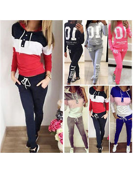 2 Pcs Womens Loungewear Tracksuit Set Christmas Activewear Pullover Tops + Pants by Ebay Seller