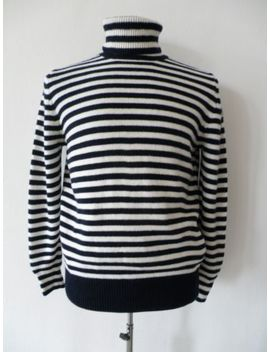 Moncler Striped Turtleneck Wool Jumper Size L by Ebay Seller