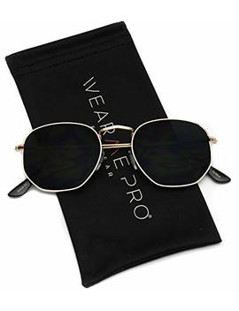 Wear Me Pro   Geometric Round Gold Frame Retro Sunglasses by Wear Me Pro