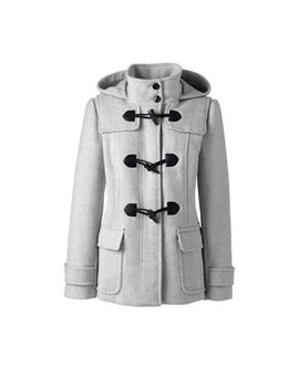 Lands' End   Grey Wool Blend Duffle Coat by Lands' End