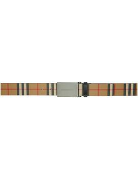Beige Vintage Check Belt by Burberry