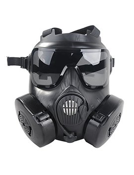 Outgeek M50 Airsoft Mask Full Face Skull Cs Mask With Fan by Outgeek