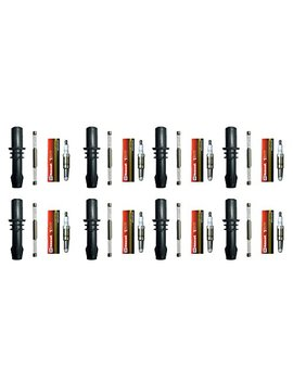 Motorcraft Spark Plugs Sp546 Pzk14 F + Ignition Coil Boot Set (8) For Ford 04 10 by Ad Auto Parts