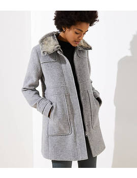 Faux Fur Collar Coat by Loft