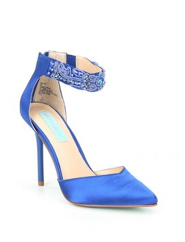 Blue By Betsey Johnson Kali Jeweled Pumps by Betsey Johnson