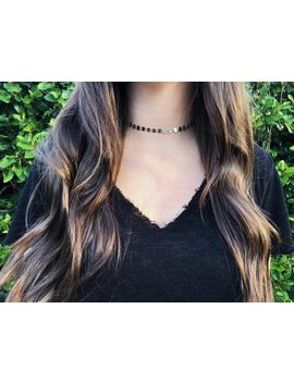 Disc Sequin Choker / Chain Collection / Gold Choker / Silver Choker / Gunmetal Choker / Chain Choker by Etsy