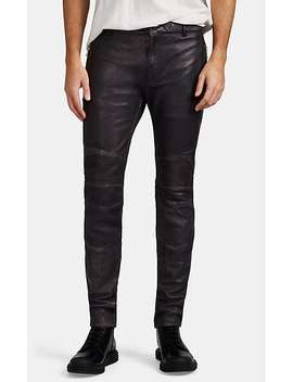Leather Skinny Biker Jeans by Balmain