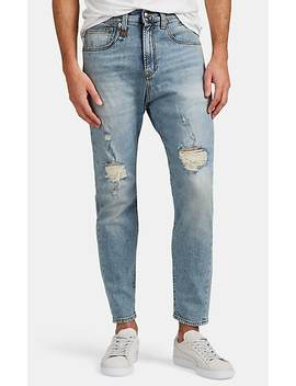 Drop Rise Distressed Slim Jeans by R13