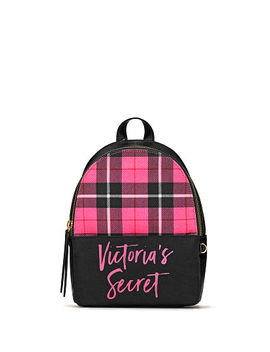 New! Pink Plaid Small City Backpack by Victoria's Secret