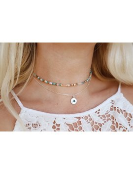 Summer Oasis Beaded Choker Necklace by Etsy