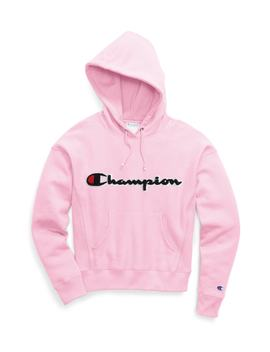 Chenille Logo Reverse Weave Hoodie by Champion