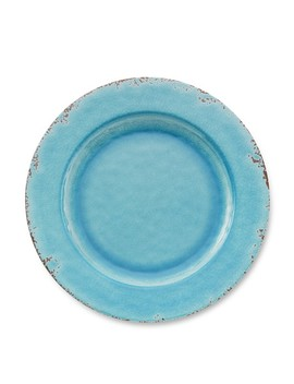 Rustic Melamine Dinner Plates, Set Of 4, Turquoise by Williams   Sonoma