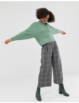 Monki Knitted Jumkper In Green by Monki