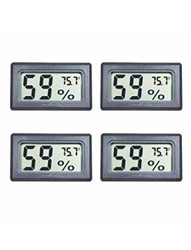 Veanic 4 Pack Mini Digital Electronic Temperature Humidity Meters Gauge Indoor Thermometer Hygrometer Lcd Display Fahrenheit (℉) For Humidors, Greenhouse, Garden, Cellar, Fridge, Closet by Veanic