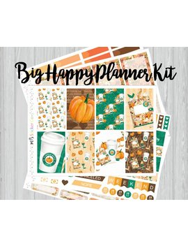 Pumpkin Spice Weekly Kit For Big Happy Planner, October Weekly Kit, Happy Planner by Etsy