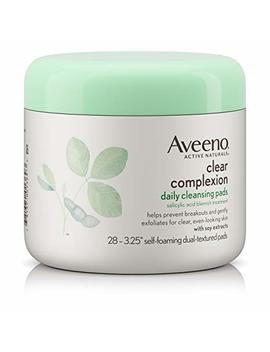 Aveeno Clear Complexion Daily Facial Cleansing Pads With Salicylic Acid Acne Treatment, 28 Ct by Aveeno