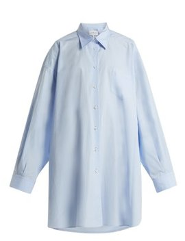 Oversized Point Collar Cotton Shirt by Maison Margiela