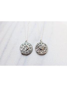 Zodiac Sun & Moon Necklace, Friendship Necklace, Bohemian Jewelry by Etsy